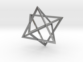 Merkaba - Sharp - 2cm in Natural Silver