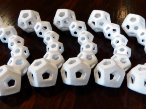 30-Cell Puzzle in White Natural Versatile Plastic