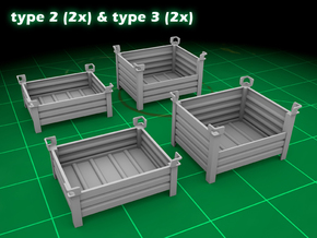 Stackable Container Set 3 in Smooth Fine Detail Plastic