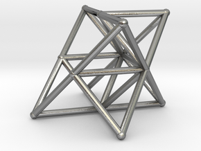 Rod Merkaba Supports OpenBase 4cm in Natural Silver