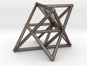 Rod Merkaba Supports OpenBase 4cm in Polished Bronzed Silver Steel