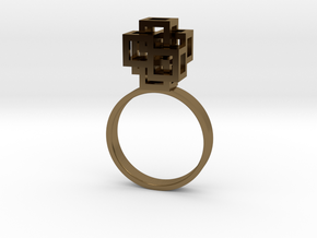 Quadro Ring - US 5 in Polished Bronze