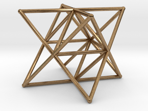 Rod Merkaba Supports 2cm in Natural Brass