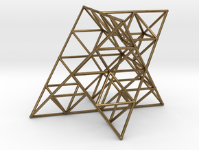 Rod Merkaba Lattice OpenBase 4cm in Natural Bronze