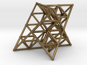 Rod Merkaba Lattice OpenBase 2cm in Natural Bronze