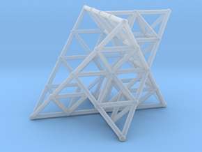 Rod Merkaba Lattice OpenBase 2cm in Smooth Fine Detail Plastic