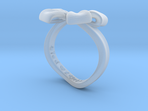Bow Ring - Friendship ring - Tied together - Size  in Smooth Fine Detail Plastic