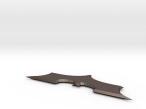 Batarang prop in Polished Bronzed Silver Steel