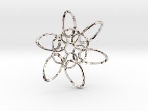 6 Ring PentaTwist  - 6.6cm in Platinum