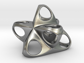 Merkaba Flatbase R1 5cm in Natural Silver