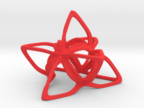 Merkaba Flatbase CurvaciousP - 7cm in Red Strong & Flexible Polished
