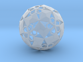 Pent Flower Sphere in Smooth Fine Detail Plastic