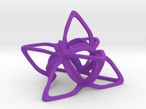 Merkaba Flatbase CurvaciousP - 5cm in Purple Processed Versatile Plastic