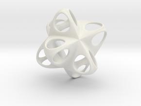 Merkaba Flatbase Round - 3.5cm in White Natural Versatile Plastic