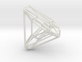 Tetrahedron .04 2cm in White Strong & Flexible