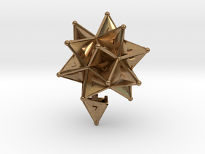 Stellated Icoso Case - 3.6cm in Natural Brass
