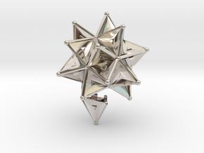 Stellated Icoso Case - 3.6cm in Platinum