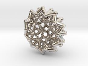 Tessa2 Half WireBalls - 1cm in Platinum