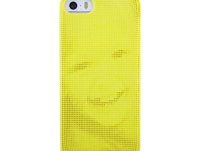 Iphone 5/5S 3D Printed case - Portrait collection in Yellow Strong & Flexible Polished
