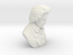 Ludwig Van Beethoven in White Natural Versatile Plastic