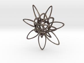 HexTwist 7 Points - 6cm in Polished Bronzed Silver Steel