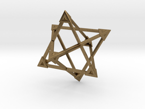 Merkaba Wire Pyramids Only 1 Caps 5cm in Natural Bronze