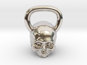 Kettlebell Skull in Platinum