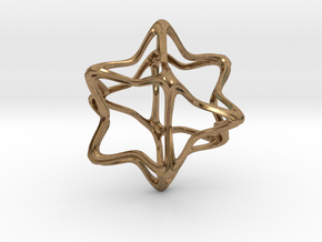 Cube Octahedron Curvy Pinch - 5cm in Natural Brass