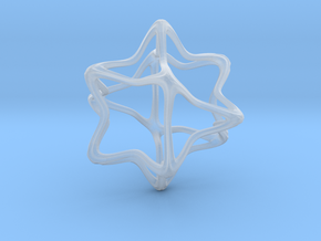 Cube Octahedron Curvy Pinch - 5cm in Smooth Fine Detail Plastic