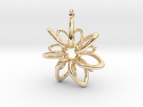 RingStar 7 Points - 4cm, Loopet in 14K Yellow Gold