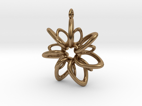 RingStar 7 Points - 4cm, Loopet in Natural Brass
