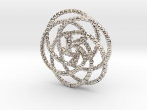 Cube Knobs 5 Rings - 5cm in Platinum