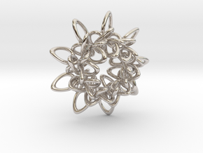 Ring Flower 1 - 4cm in Platinum