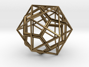 IcosoDodeca Wire 1 4cm in Natural Bronze