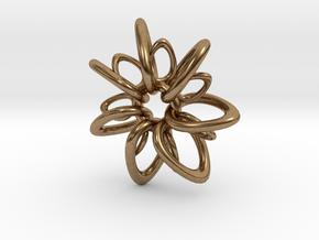 RingStar 7 points - 4cm in Natural Brass