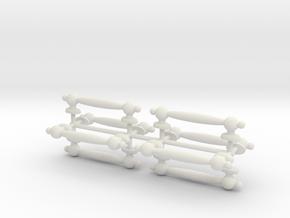 1/6 Scale Handles in White Natural Versatile Plastic