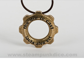 Steampunk Gear Pendant in Stainless Steel