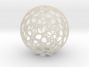Sphere - O - Mesh in White Acrylic