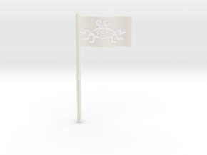 FSM Flag for Starch-Bishop's Palace in White Natural Versatile Plastic
