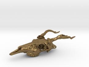 Deer Skull Necklace  in Natural Bronze