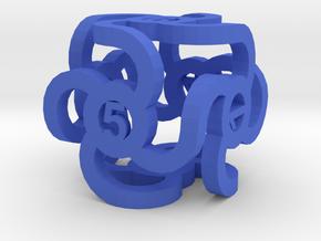 Dice57 in Blue Processed Versatile Plastic