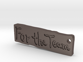 For The Team - Sand Version in Polished Bronzed Silver Steel