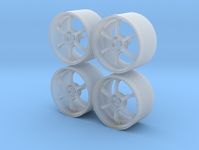 18'' 1/24 scale model wheels (Advan RG-D, male) in Frosted Ultra Detail