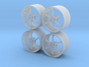 19'' 1/24 scale model wheels (Advan RG-D, male) in Frosted Ultra Detail