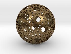 Star Weave Mesh Sphere in Natural Bronze