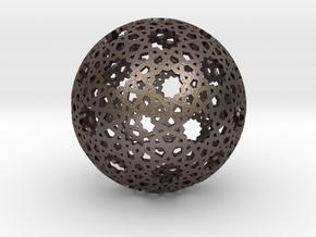 Star Weave Mesh Sphere in Polished Bronzed Silver Steel