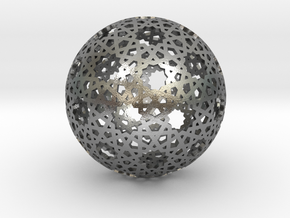 Star Weave Mesh Sphere in Natural Silver