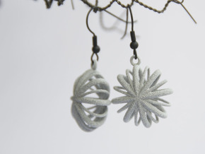 Flower Array earrings in Polished Metallic Plastic