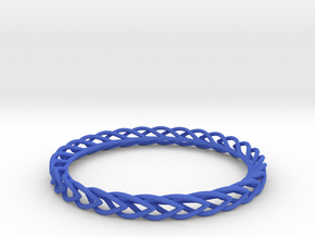 Leaf Bangle in Blue Processed Versatile Plastic