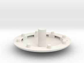 Apollo CM Wind Tunnel Heat Shield in White Natural Versatile Plastic